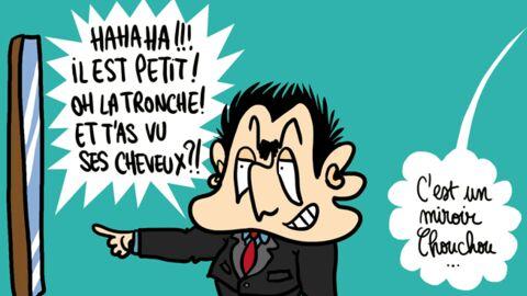 Louison a croqué: Nicolas Sarkozy se moque du physique de François Hollande