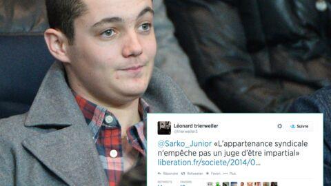 Sur Twitter, le fils de Valérie Trierweiler fait la leçon au fils de Nicolas Sarkozy