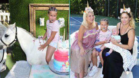 PHOTOS Tori Spelling invite Jennie Garth à l'incroyable anniversaire (avec licorne) de sa fille