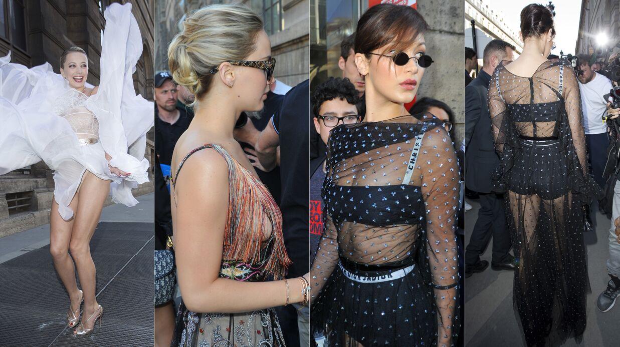 PHOTOS Le side-boob de Jennifer Lawrence, une invitée en montre trop à la soirée Dior