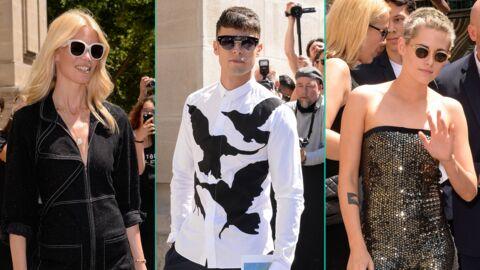 PHOTOS Défilé Chanel: Baptiste Giabiconi a changé de tête, la tenue ultra scintillante de Kristen Stewart