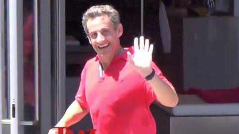 VIDEO Nicolas Sarkozy: son footing à Los Angeles interrompu par un car de touristes