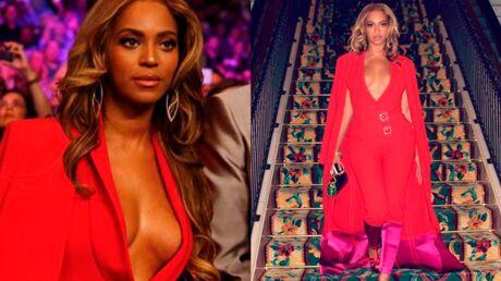 PHOTOS Beyoncé: son décolleté incendiaire pour le match de boxe de l'année