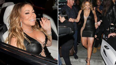 PHOTOS Mariah Carey: piégée par sa robe décolletée, fendue ET très courte, elle en montre trop…