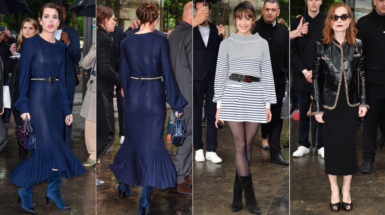 PHOTOS Charlotte Casiraghi dévoile tout dans une robe transparente au défilé Chanel Croisière