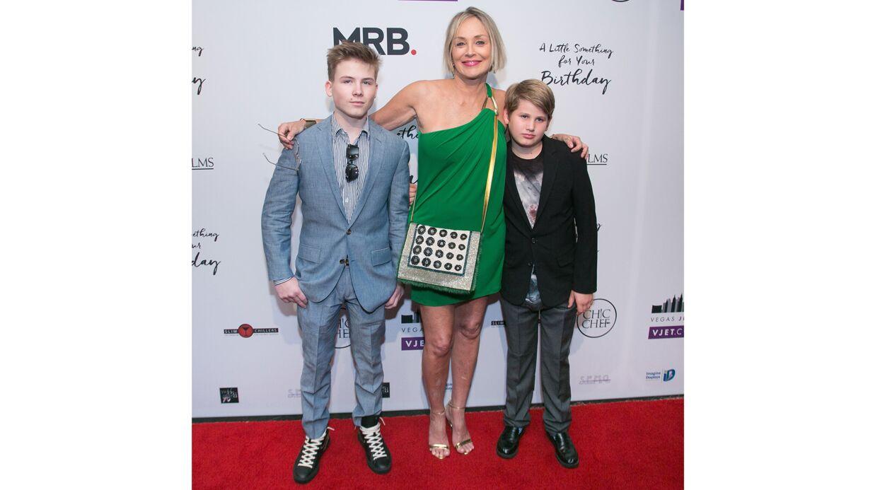 PHOTOS Sharon Stone s'affiche tout sourire avec ses enfants