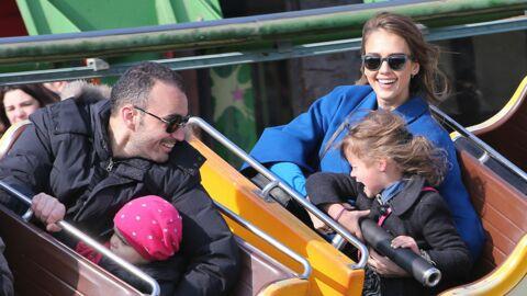 DIAPO Jessica Alba s'éclate au Jardin d'acclimatation