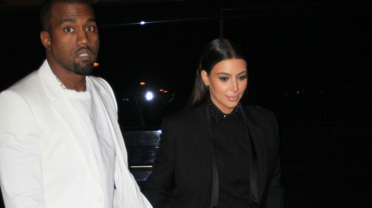 DIAPO Kim Kardashian et Kanye West en noir et blanc chez Givenchy