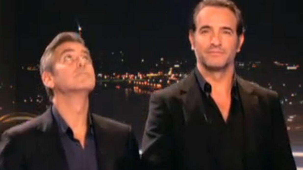 VIDEO Jean Dujardin et George Clooney en plein fou-rire avant le JT de TF1