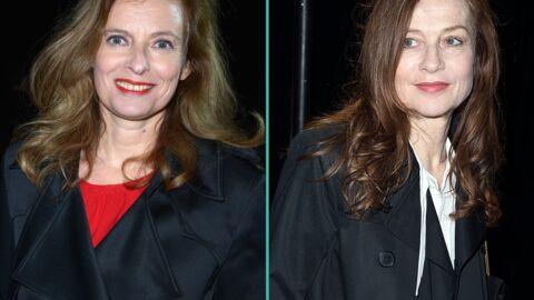 PHOTOS Valérie Trierweiler aux côtés d'Isabelle Huppert et Kate Moss au défilé Saint Laurent