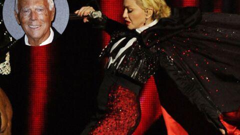 Chute de Madonna aux Brit Awards: Armani enfonce la chanteuse