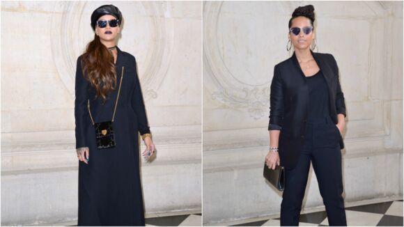 Robe noir veste fushia