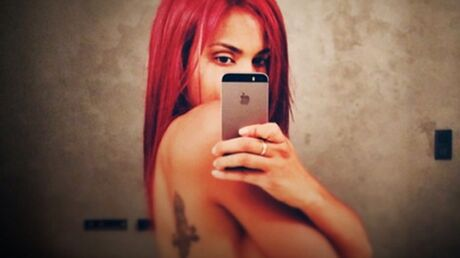PHOTOS Shy'm, topless, dévoile sa nouvelle couleur de cheveux