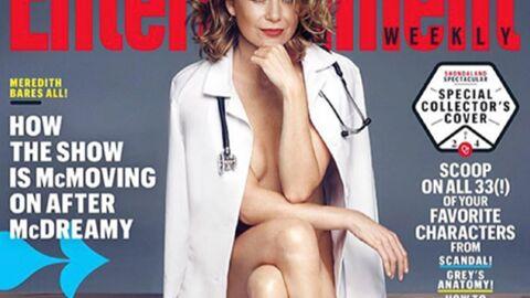 PHOTO Ellen Pompeo (Grey's Anatomy) toute nue sous une blouse grande ouverte
