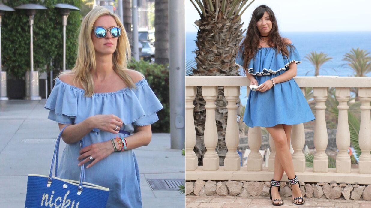 Adoptez la robe «off-shoulder» de Nicky Hilton avec les conseils de Marieluvpink