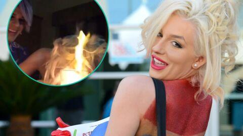 VIDEO Une starlette de téléréalité voit ses cheveux prendre feu alors qu'elle tente de contacter Michael Jackson