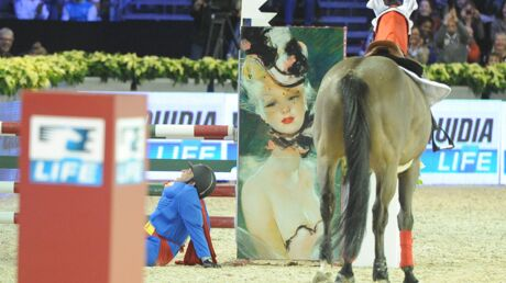 PHOTOS Benjamin Castaldi chute de cheval lors des Gucci Masters