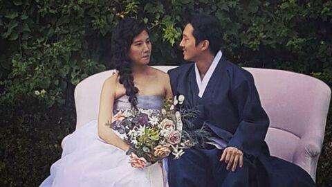 Steven Yeun s'est marié sous les yeux de ses collègues de The Walking Dead