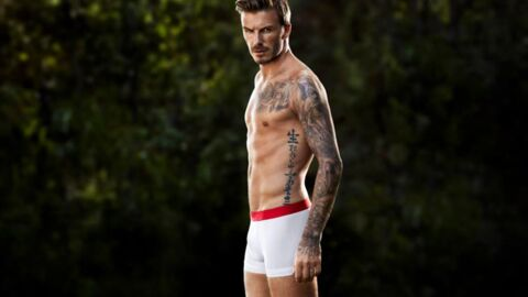 PHOTOS David Beckham à nouveau en boxer et torse nu pour H&M