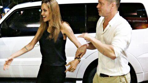 PHOTOS Angelina Jolie extrêmement maigre aux côtés de Brad Pitt
