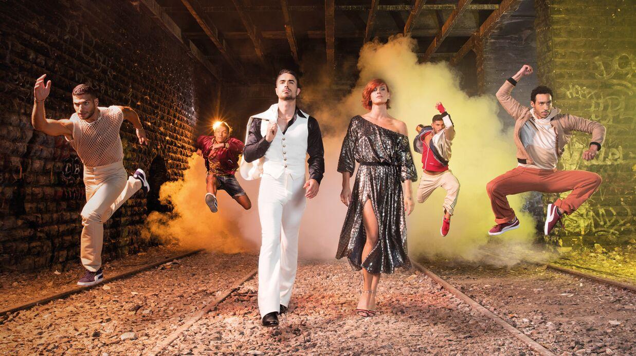 Fauve Hautot va danser devant les Galeries Lafayette Haussmann pour le lancement des soldes