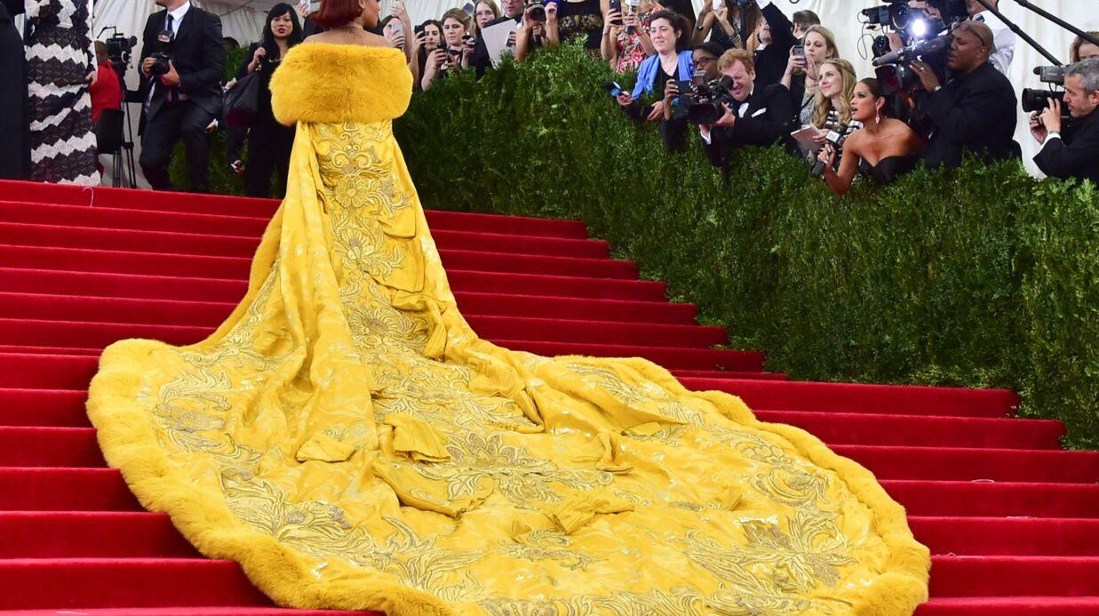 Rihanna robe jaune omelette