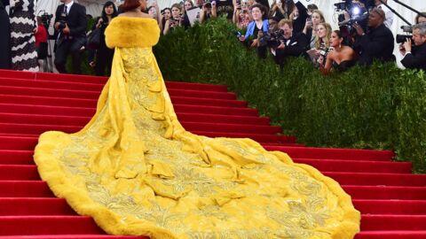 Rihanna devient la risée du web avec sa «robe-omelette» du Met Ball