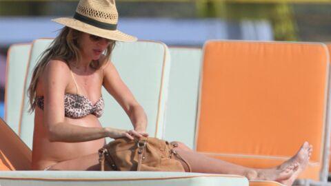 DIAPO Gisele Bündchen très enceinte et en bikini