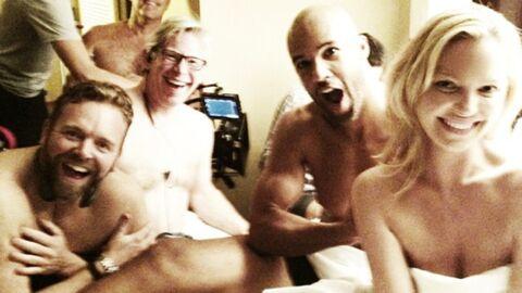 PHOTO Katherine Heigl pose nue entourée d'hommes
