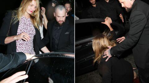 PHOTOS Cameron Diaz se casse la figure en sortant d'un restaurant