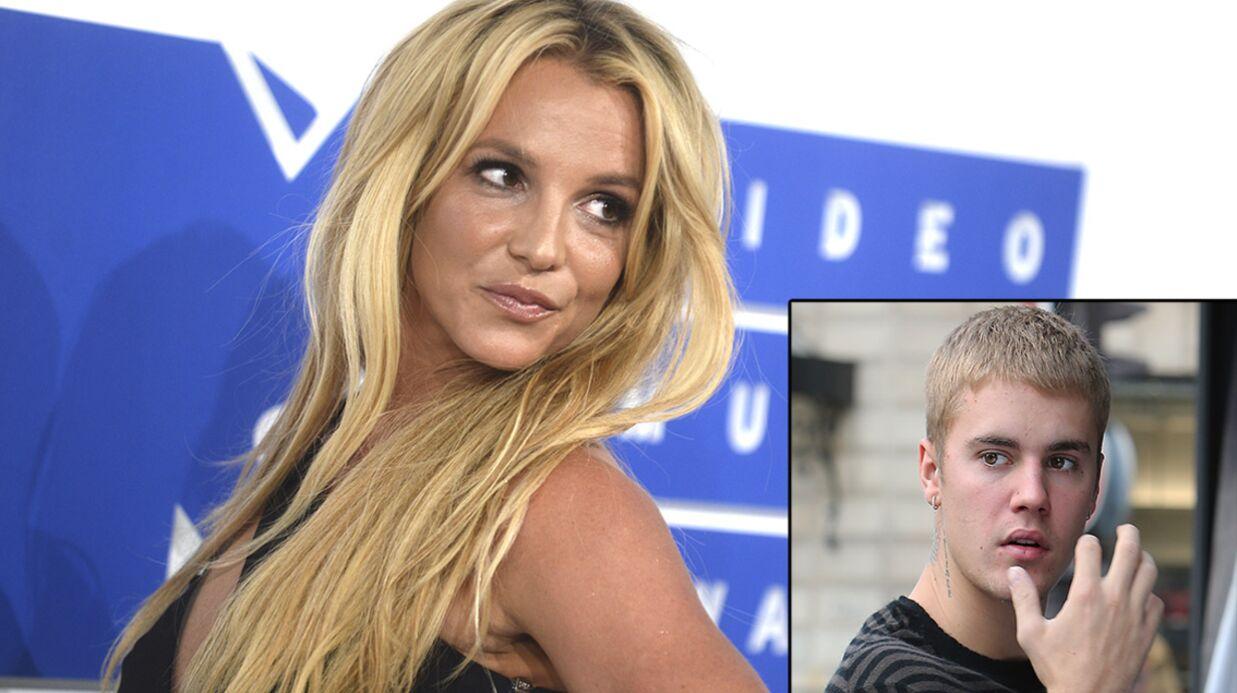 Britney Spears l'avoue: elle rêve de «rouler une pelle» à Justin Bieber