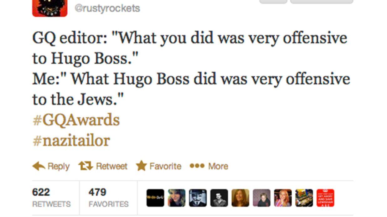 Russel Brand blague sur Hugo Boss et les Nazis et se fait virer de la soirée GQ