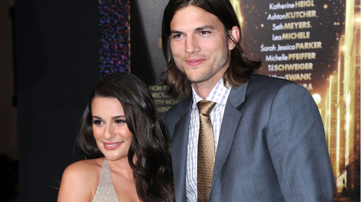 PHOTOS Sans son alliance, Ashton Kutcher reluque Lea Michele