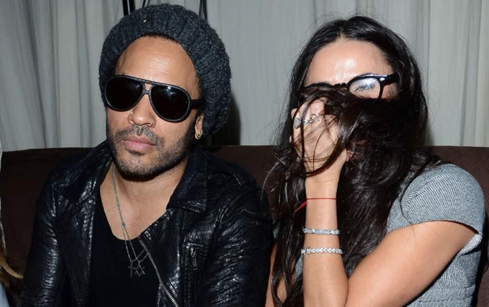 Demi Moore et Lenny Kravitz