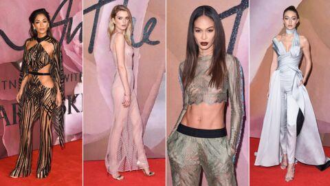 PHOTOS Nicole Scherzinger surprenante, Joan Smalls toute en transparence aux Fashion Awards