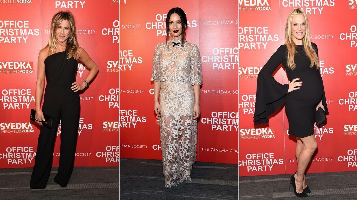 PHOTOS Olivia Munn dévoile sa poitrine, Jennifer Aniston élégante pour Joyeux Bordel
