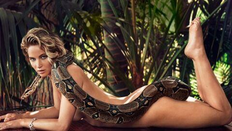 PHOTO Jennifer Lawrence entièrement nue avec un gros serpent