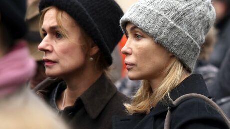 Obsèques du réalisateur Jacques Rivette: Sandrine Bonnaire et Emmanuelle Béart très émues
