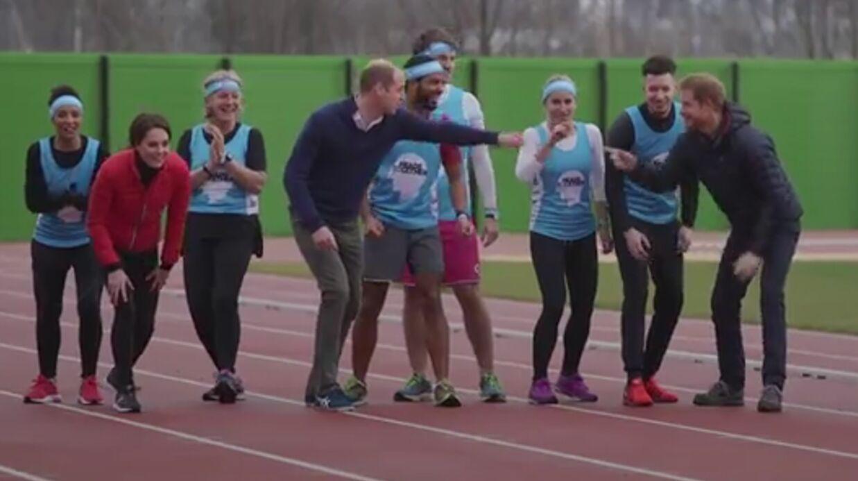 VIDEO Famille royale: William, Harry et Kate font un sprint, regardez qui a perdu