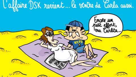 Louison a croqué… les Sarkozy qui se montrent à Brégançon
