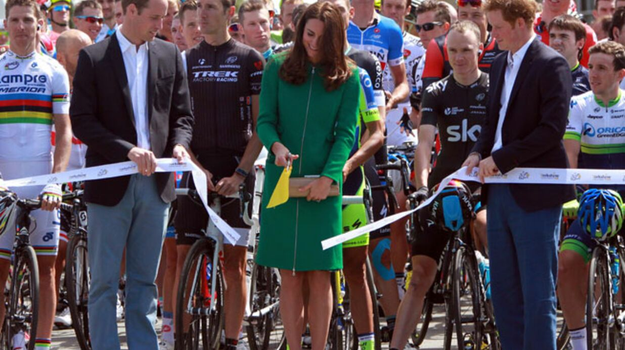 PHOTOS Kate Middleton radieuse pour lancer le Tour de France 2014