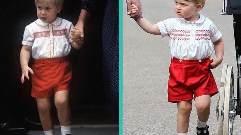 PHOTO Pour le baptême de Charlotte, George habillé exactement comme son père, à 31 ans  d'écart
