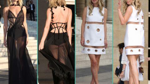 PHOTOS Rosie Huntington hyper sexy, Nicky Hilton en montre trop au défilé Versace