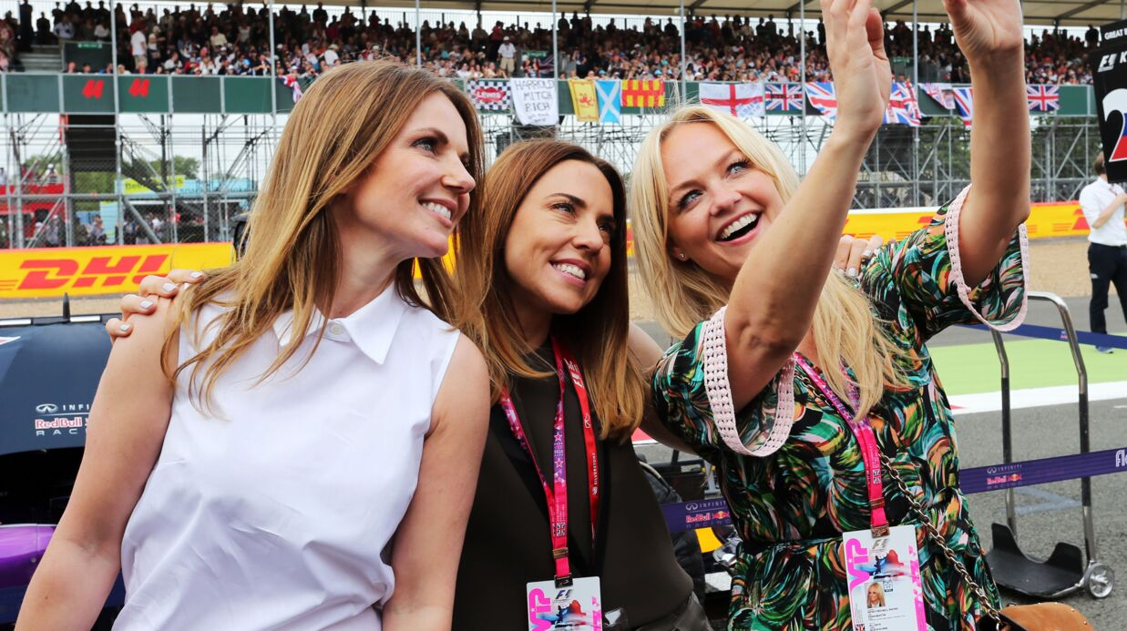 PHOTOS Les Spice Girls Mel C, Emma Bunton et Geri Halliwell réunies à un grand prix de Formule 1