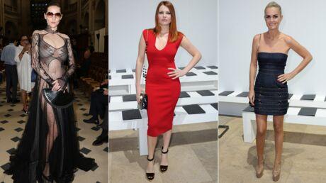 PHOTOS Fashion week: Hea Deville tout simplement seins nus, Laeticia Hallyday et Elodie Frégé sexy