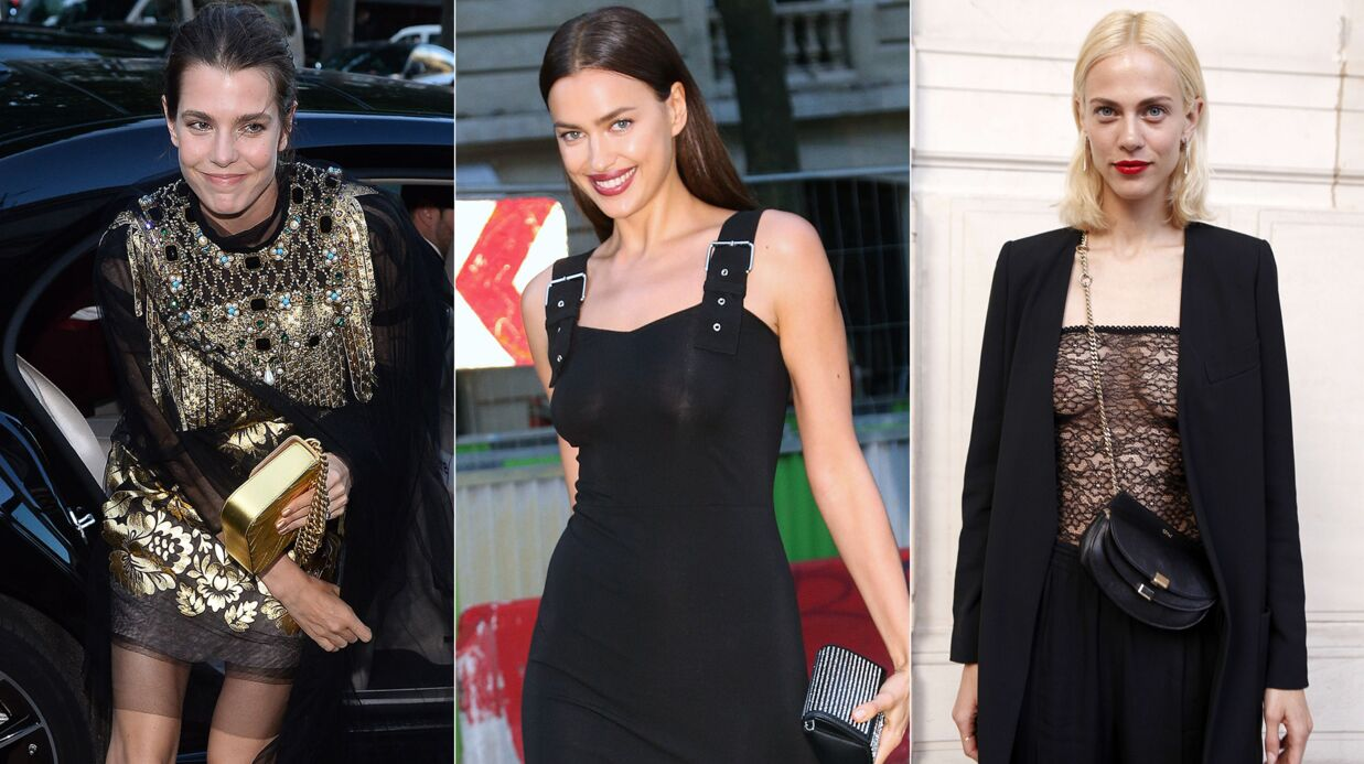 PHOTOS Dîner Vogue: Charlotte Casiraghi galère avec sa traîne, Irina Shayk trahie par les flashs