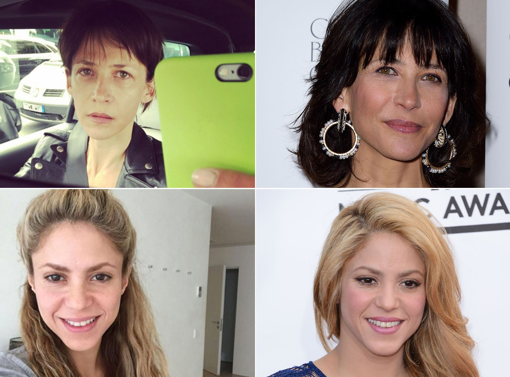 Diapo Les Meilleurs Selfies De Stars Sans Maquillage Attention Les