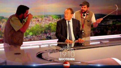 VIDEO Eric et Quentin débarquent à TF1 et troublent les stars de la chaîne pour Quotidien