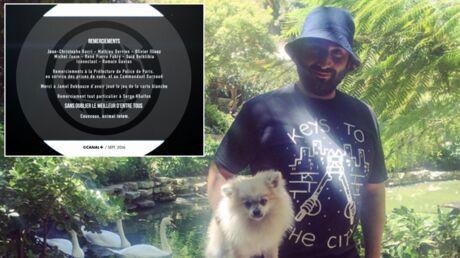 Mouloud Achour fait un big up à son chien dans les remerciements du Gros Journal