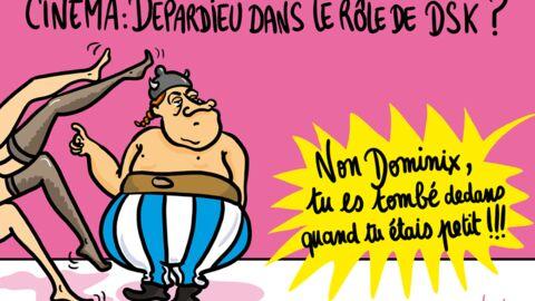 Louison a croqué: Depardieu dans le rôle de DSK